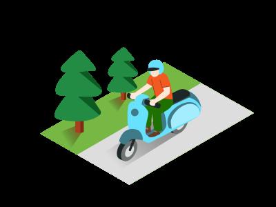バイクの立ちゴケ防止としてカウンターステア、逆ハン、逆操舵を使う