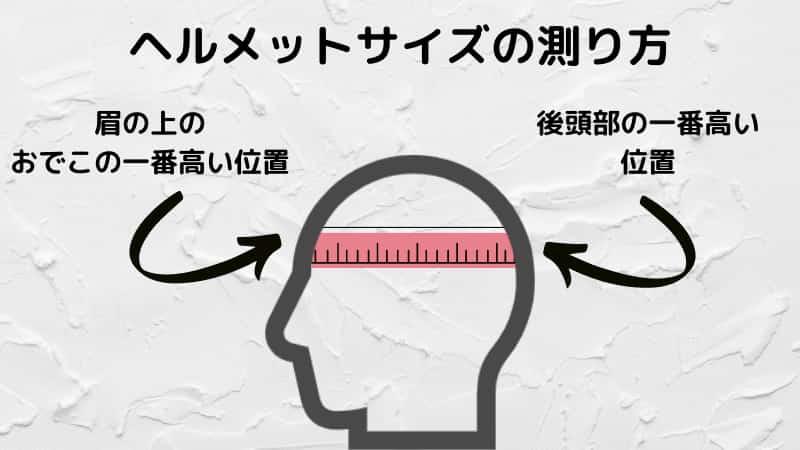 シンプソンヘルメットサイズの測り方