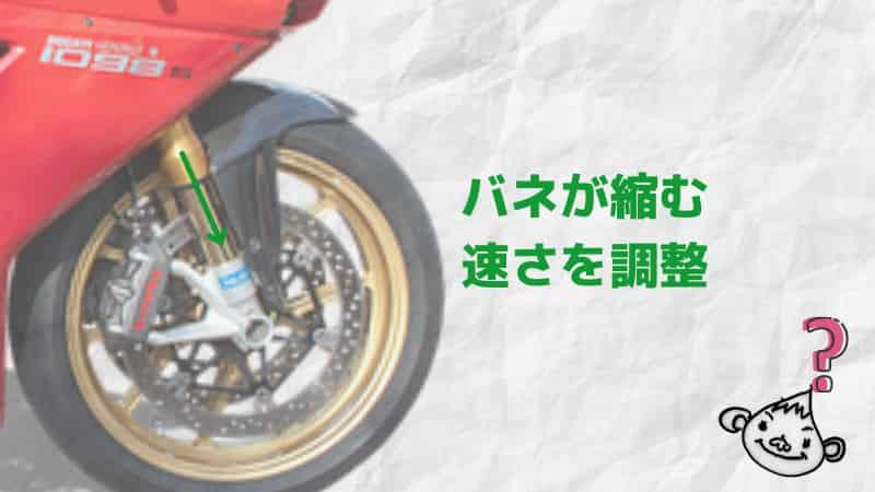 フロント圧側(コンプレッション)~バイクサスセッティングで遊ぼう!サスペンション調整~