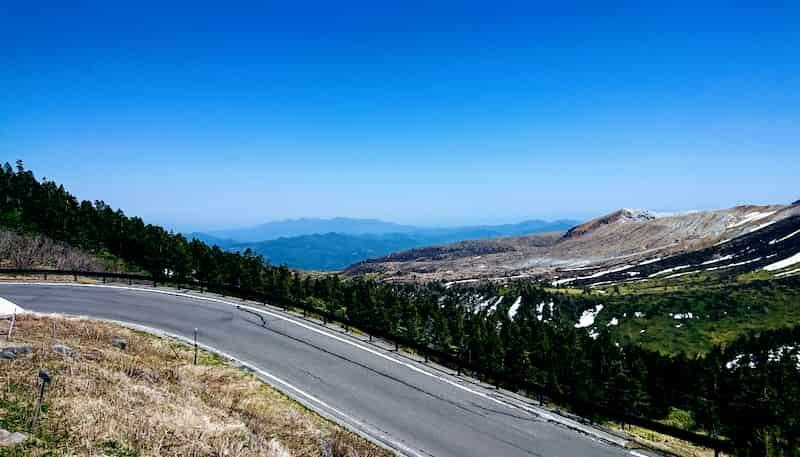 群馬ドライブツーリングでおすすめのデートコースの志賀草津道路