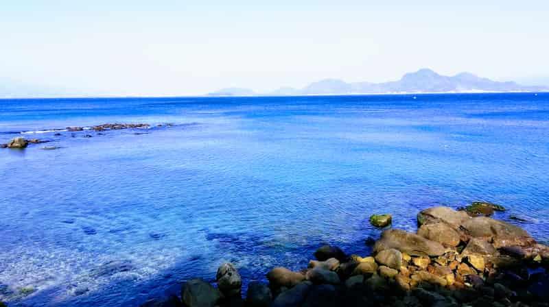 静岡ツーリング・ドライブで見る西伊豆からの太平洋の海