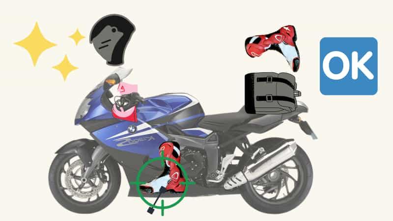 ブレーキレバーを握りながらバイクにまたがる【公道でのバイク乗車手順】