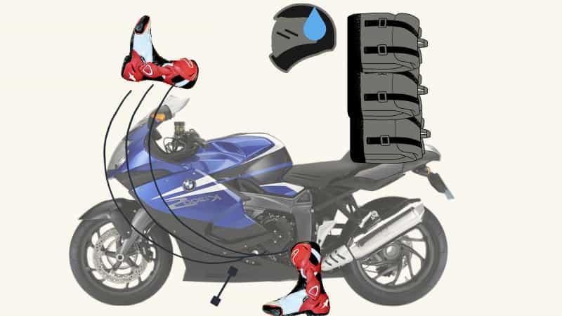 タンクの上をまたぐバイクのまたぎ方