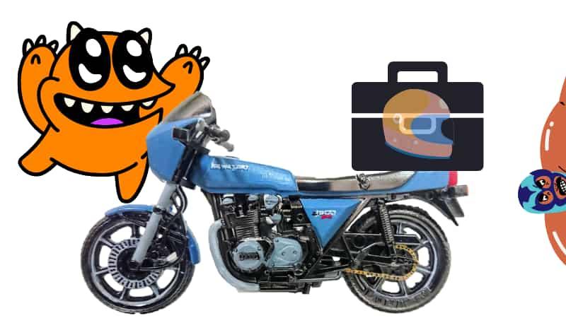 休憩中にバイクヘルメットをボックスに収納~ヘルメットホルダー、ヘルメットロックがない場合~