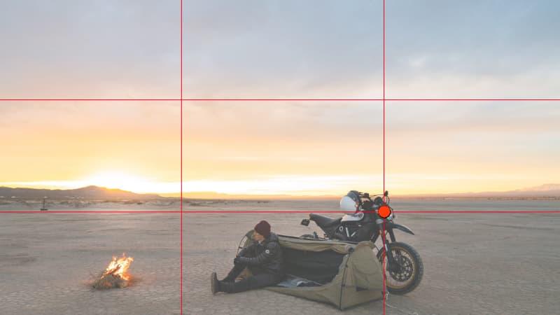 三分割構図【バイク写真撮り方のコツ】