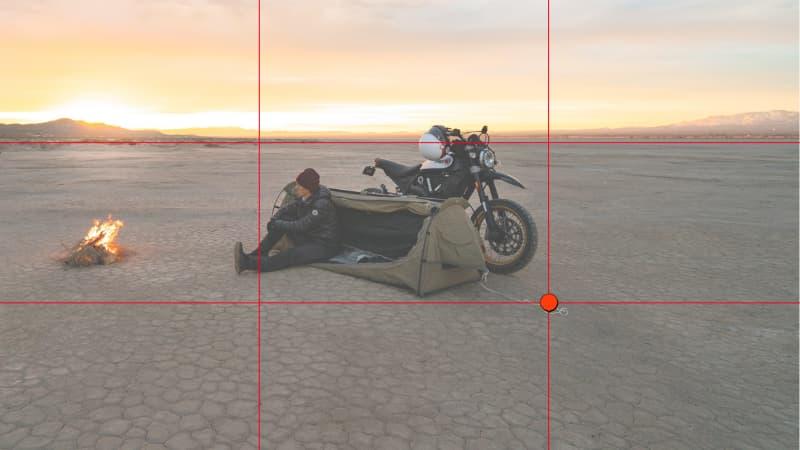 三分割構図ではない【バイク写真撮り方のコツ】