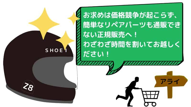 Z-8【ショウエイおすすめフルフェイスヘルメット