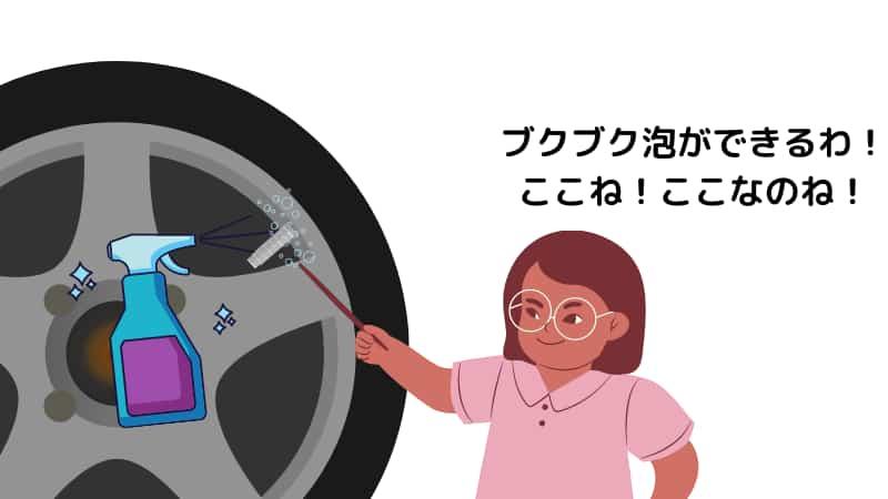 原付やバイクタイヤの経年劣化よるパンクの確認方法