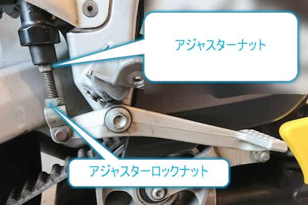 ブレーキペダルの高さ調整の方法