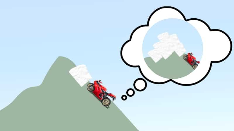 バイクで雪道が出現したときの対処方法【登り坂】