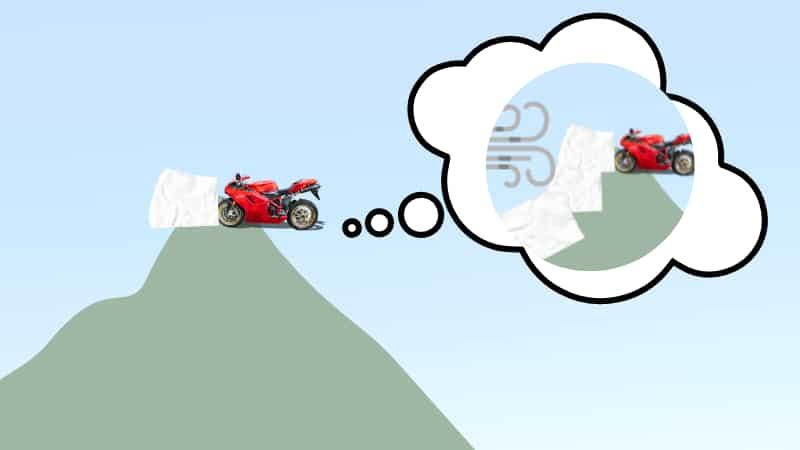バイクで雪道が出現したときの対処方法【頂上】