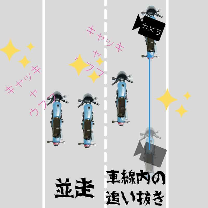 並走や同一車線の追い抜きが危険なワケ【バイク事故を防ぐ緊急回避方法】