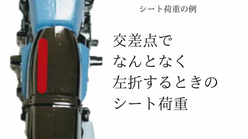 バイクのシート荷重の注意点