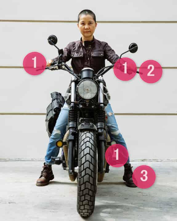 バイクの停止操作【バイクの乗り方】