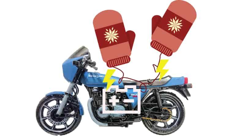 バイクのバッテリーから電源をとる